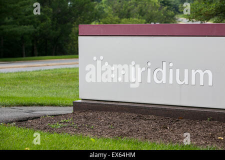 A logo sign outside of an office building occupied by Iridium Communications Inc., in Leesburg, Virginia. - Stock Photo