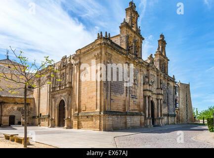 College of Santa Maria de Los Reales Alcazares de Ubeda , Jaen Province, Andalusia, Spain - Stock Photo