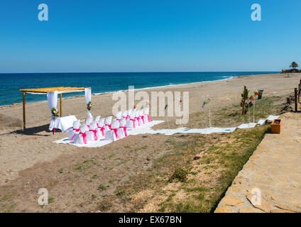 Beach Wedding Venue in Mojacar, Almeria Province, Andalusia, Spain - Stock Photo