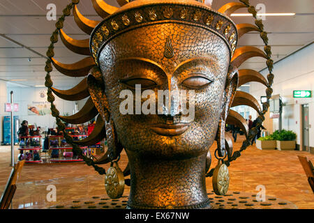 Statue in Indira Gandhi International Airport, New Delhi, Delhi, India - Stock Photo