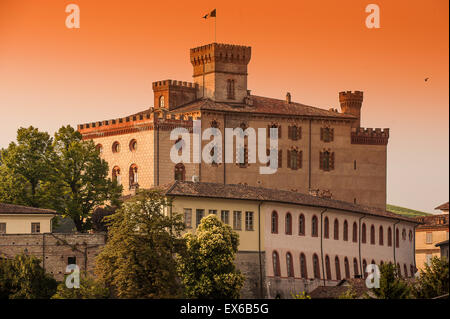 Italy Piedmont Langhe World Heritage Unesco Barolo the castle - Stock Photo