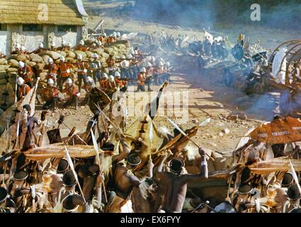 Zulu was a 1964 historical war film depicting the Battle of Rorke's Drift between the British Army and the Zulus - Stock Photo