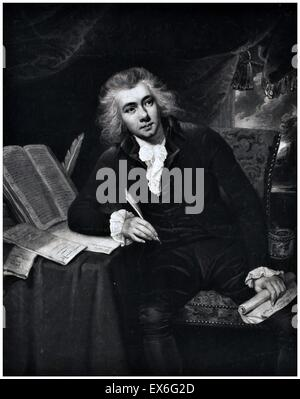 William Wilberforce (24 August 1759 – 29 July 1833) was an English politician, philanthropist, theologian and a - Stock Photo