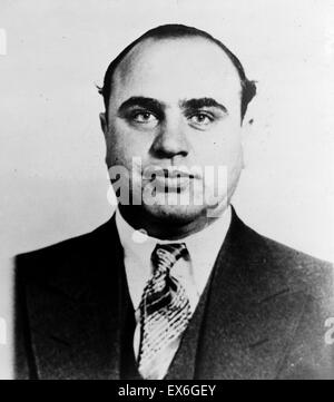 Photograph of Alphonse Gabriel 'Al' Capone (1899-1947). Infamous American gangster who attained fame during the - Stock Photo
