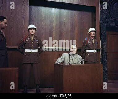 Hermann Wilhelm Goring ( 1893 – 15 October 1946) German politician, of the Nazi Party (NSDAP), on trial at the Nuremburg - Stock Photo