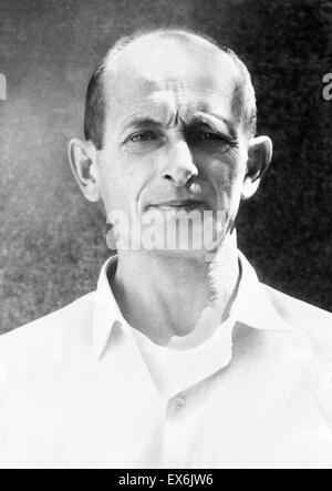 Otto Adolf Eichmann (1906 – 1962) German Nazi SS lieutenant colonel. major organiser of the Holocaust during World - Stock Photo