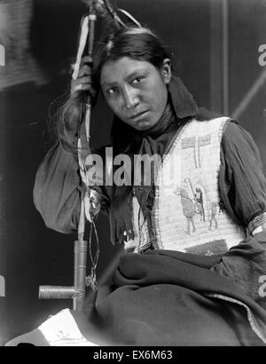 Photograph of a member of Buffalo Bill's Wild West Show, Charles American Horse. Photographed by Gertrude Käsebier - Stock Photo