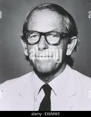 Photograph of Frederick Sanger (1918-2013) British biochemist who won the Nobel Prize for Chemistry twice. Dated - Stock Photo