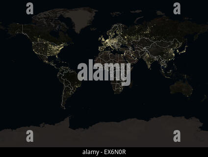 World at night in 2012 showing a world map in mercator projection world at night in 2012 showing a world map in miller projection this satellite gumiabroncs Image collections