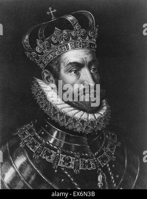 Portrait of King Charles V of Spain (1500-1558) and Emperor of Germany, also known as, Charles V, Holy Roman Emperor. - Stock Photo