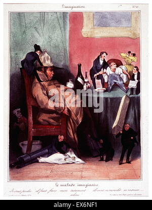 Le malade imaginaire by Honoré Daumier (1808-1879) - Stock Photo