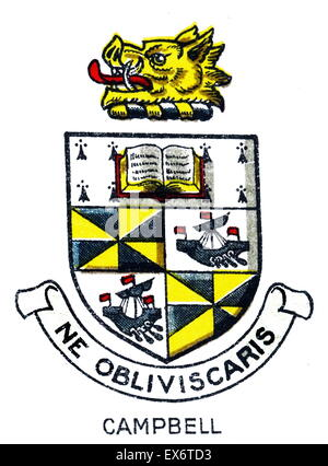 Emblem for Campbell College, Belfast, Northern Ireland, a voluntary grammar school. The college was founded in 1894. - Stock Photo