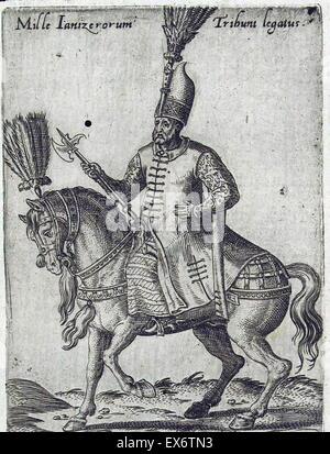 ottoman janissary 17th century. The Janissaries were Ottoman Turkish elite infantry units that formed the Ottoman - Stock Photo