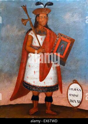 Portrait of Huayna Capac Stock Photo, Royalty Free Image ...