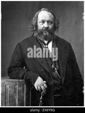 Mikhail Alexandrovich Bakunin (1814 – 1876) Russian revolutionary anarchist, and founder of collectivist anarchism. - Stock Photo