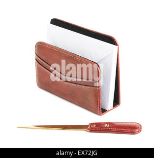 Envelope holder and opener - Stock Photo