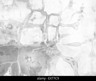 Polished plaster wall cracks construction background texture. - Stock Photo
