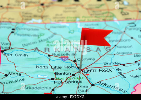 Little Rock Pinned On A Map Of USA Stock Photo Royalty Free Image - Little rock on us map