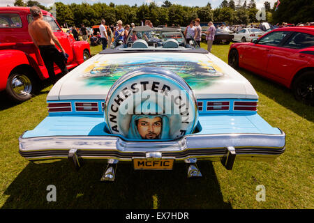 Classic American car, on show in a British owners show, Tatton Park, Chesire UK - Stock Photo