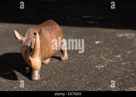 African rhinoceros statue - Stock Photo
