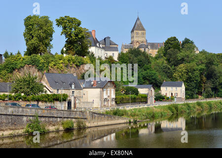 Château-Gontier in France - Stock Photo