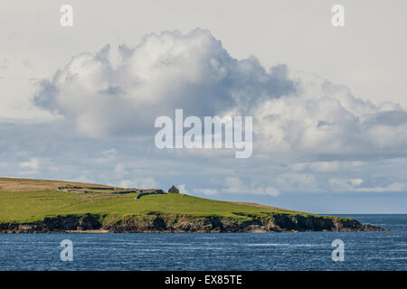 Coastline, Yell, Shetland Islands, Scotland, United Kingdom - Stock Photo