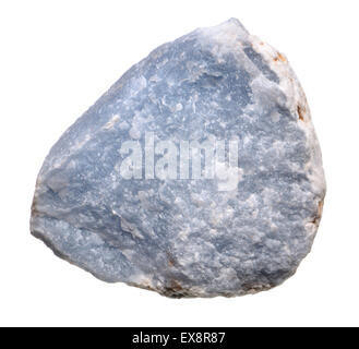 Angelite (blue form of Anhydrite - calcium sulphate) - Stock Photo