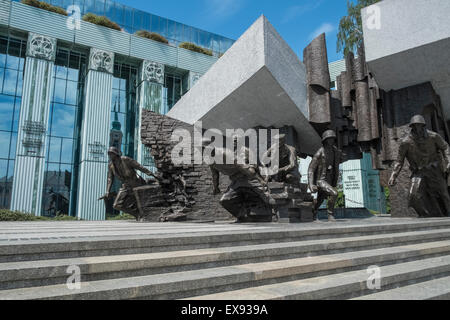 1944 Warsaw Uprising Monument, Krasiński Square, Warsaw, Poland - Stock Photo
