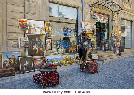 Souvenir Shop In Old Baku Stock Photo Royalty Free Image