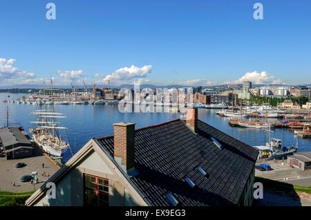 Oslo harbour Norway - Stock Photo