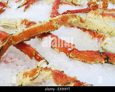 Crab Legs, Fish Market,  USA - Stock Photo