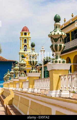 TRINIDAD, CUBA - JULY 22, 2014: A city with colonial architecture.Worldwide Patrimony of humanity since 1988. Third - Stock Photo