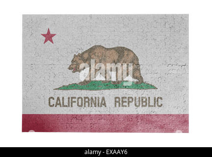 Large jigsaw puzzle of 1000 pieces - flag - California - Stock Photo