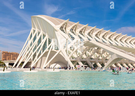 La Ciudad de las Artes y las Ciencias (City of Arts and Sciences), Valencia, Spain, Europe - Stock Photo