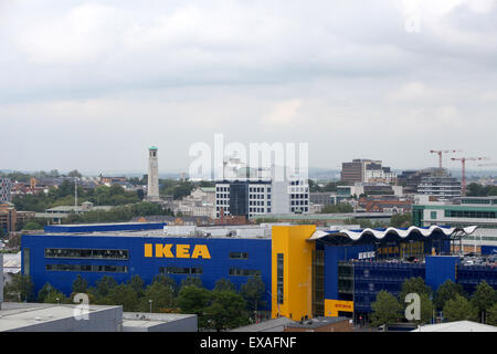 Ikea store in Southampton with a view of the city behind - Stock Photo
