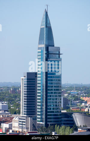 The Antel Building, Montevideo, Uruguay, South America - Stock Photo