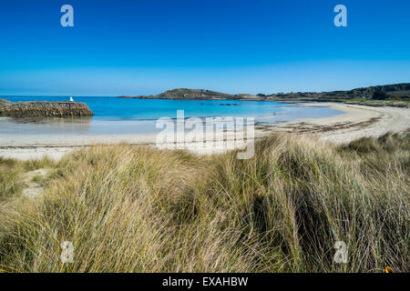 Braye Bay, Alderney, Channel Islands, United Kingdom, Europe - Stock Photo