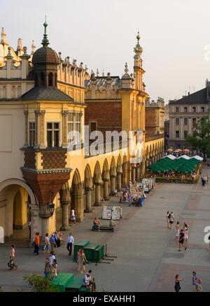 Krakow Poland Cloth Hall ( Sukiennice ) at Main Market Square ( Rynek Glowny ) Old Town - Stock Photo