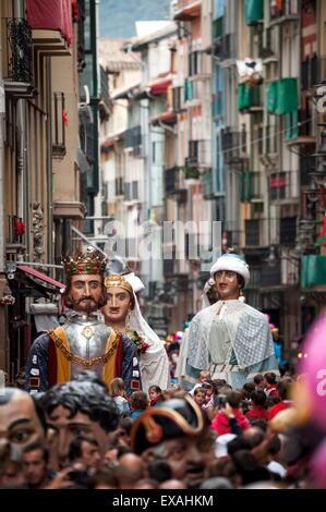Festival of San Fermin, Pamplona, Navarra, Spain, Europe - Stock Photo