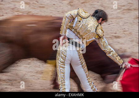 Bullfights, Festival of San Fermin, Pamplona, Spain, Europe - Stock Photo