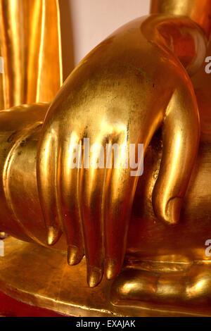 Buddha's hand in Wat Mahathat, Bangkok, Thailand, Southeast Asia, Asia