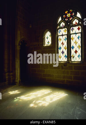 Spain. Catalonia. Barcelona. Chapel of Santa Agueda. Royal Chapel. Built en 1302.  Gothic. Real Mayor Palace. - Stock Photo