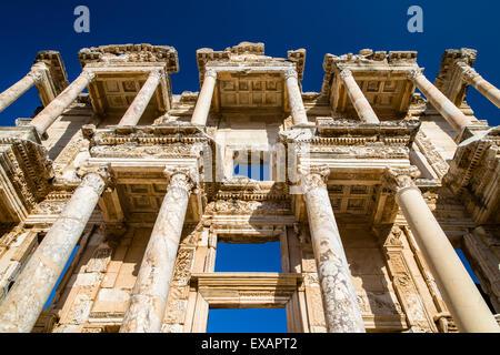 Library of Celsus, Ephesus, Izmir, Turkey - Stock Photo