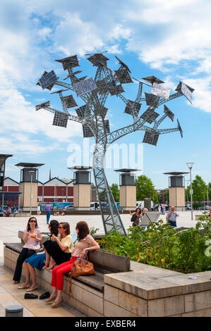 The Energy Tree at-Bristol Science Centre, is part of the city's year as European Green Capital, Bristol, England, - Stock Photo