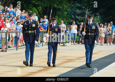 Changing of the Guard, Arlington National Cemetery, Tomb of the Unknown Soldier, Virginia - Stock Photo