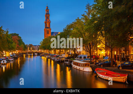Western church in Amsterdam - Stock Photo