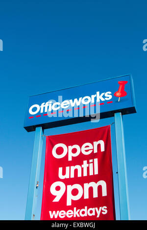Officeworks store in north sydney australia, based on the office depot concept from the USA - Stock Photo