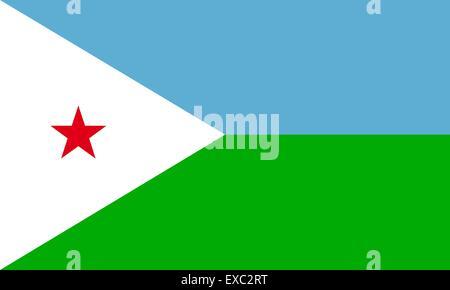 Djibouti flag - Stock Photo