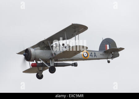 Yeovilton International Air Day, Ilchester, Somerset, UK. 11th July, 2015.   The Royal Navy Historic Flight Swordfish - Stock Photo
