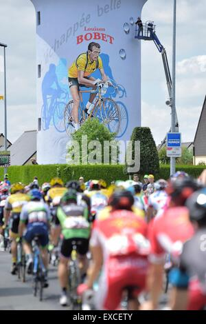 Rennes, France. 11th July, 2015. Tour de France Cycling Tour, stage 8. Rennes to Mur de Bretagne. A picture of the - Stock Photo